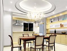 Сатиновый натяжной потолок для кухни